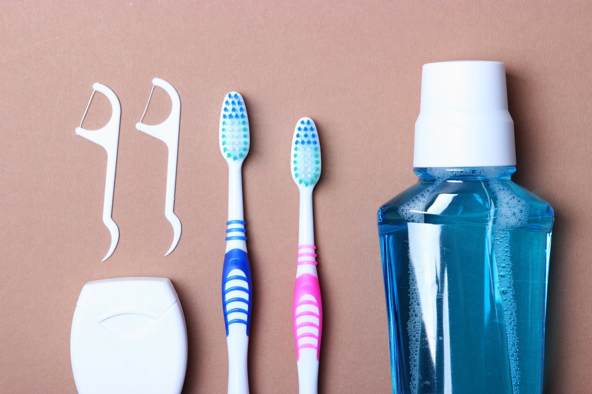 Toothbrushes, floss, and floss picks